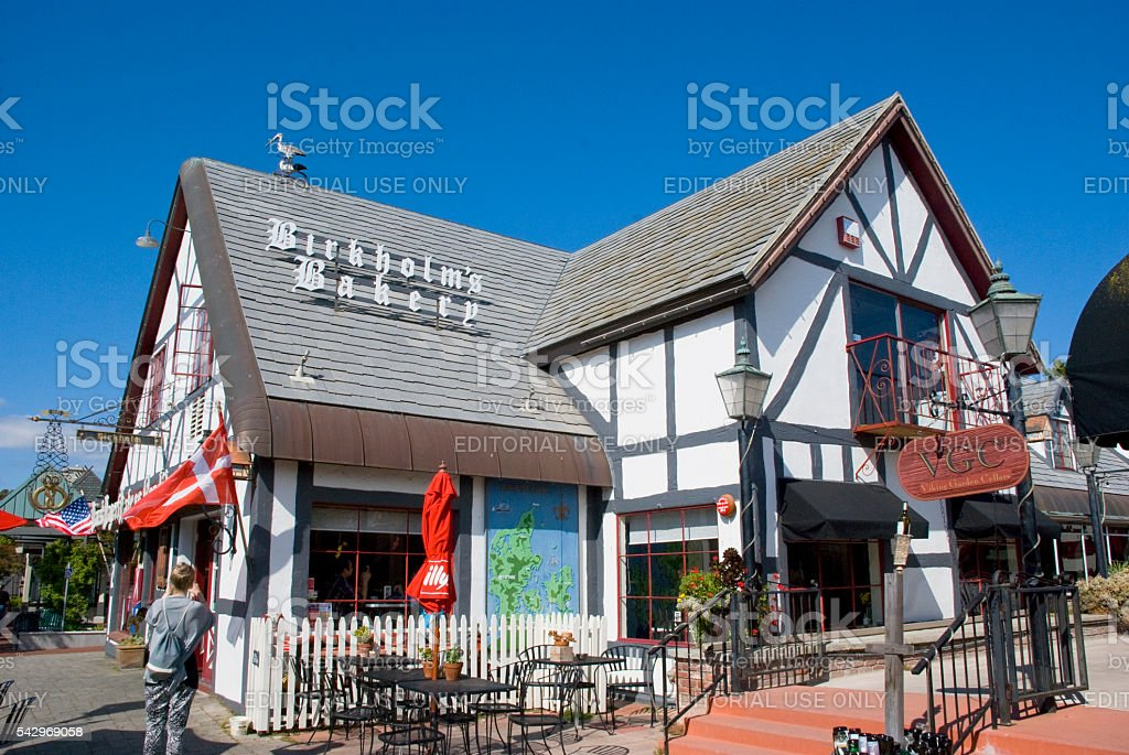 Danish architecture - bakery house in Solvang, California stock photo