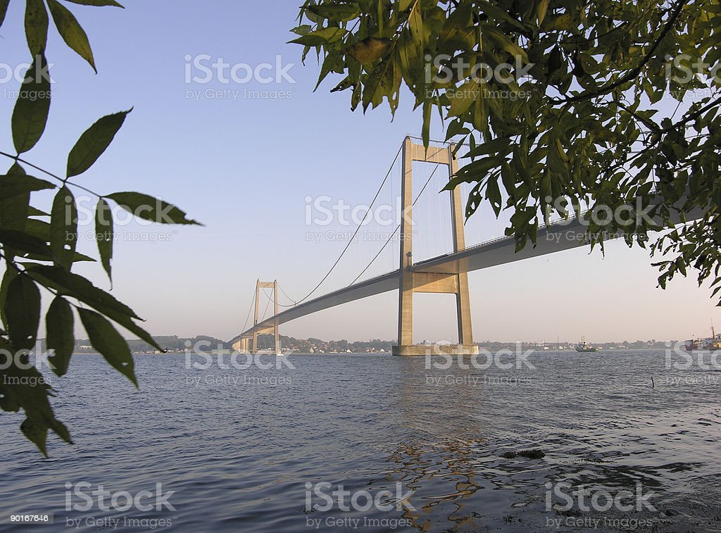 Danish Bridge royalty-free stock photo