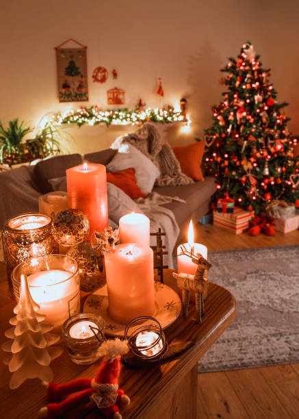 danish christmas livingroom with traditional decorations stock photo more pictures of artificial istock
