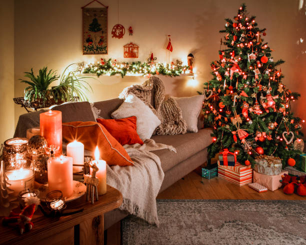 danish christmas tree with traditional decorations stock photo more pictures of artificial istock
