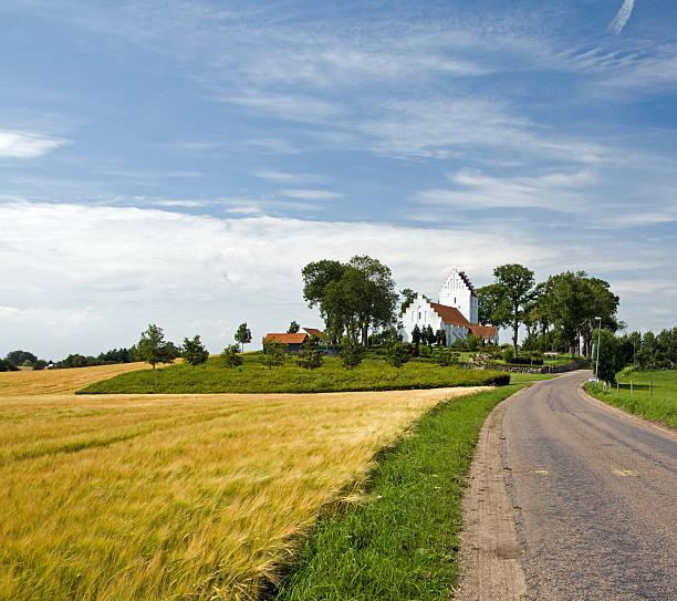 Danish church stock photo