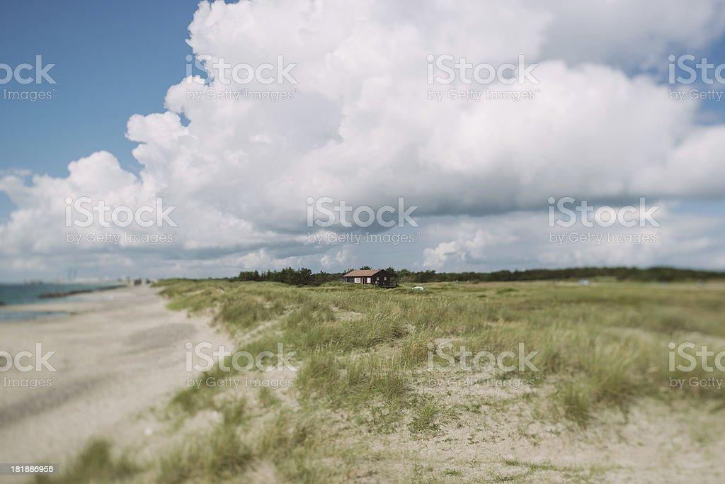 Danish coast panorama royalty-free stock photo