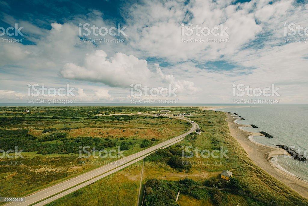 Danish coast panorama stock photo