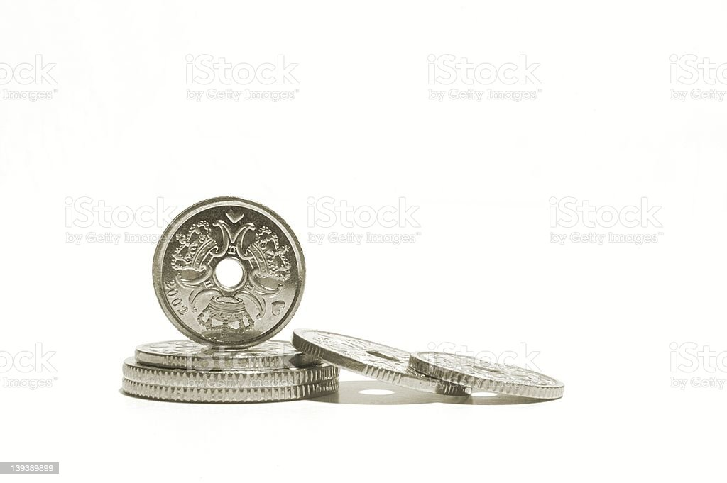 Danish Coins royalty-free stock photo