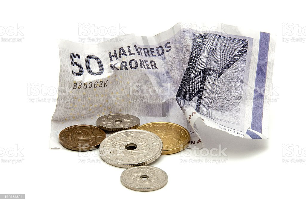 Danish currency royalty-free stock photo
