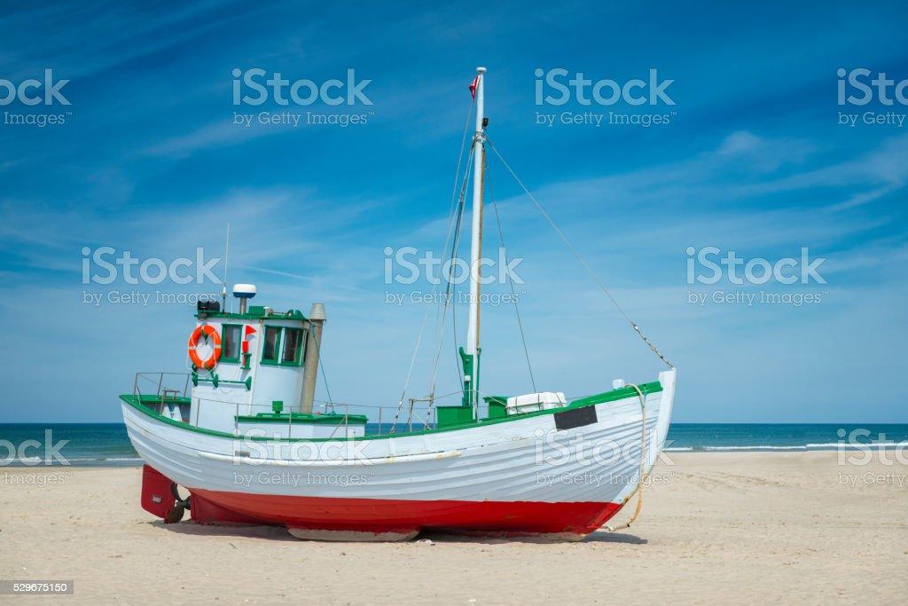 Barco de pesca dinamarquês - foto de acervo