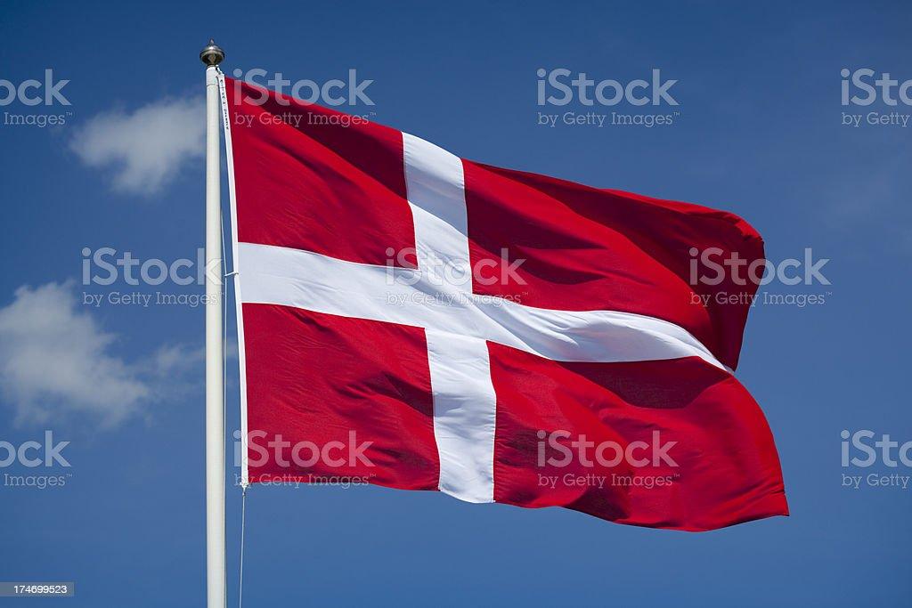 Bandera danesa - foto de stock