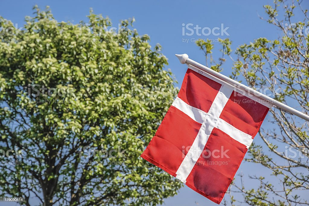 Danish flag royalty-free stock photo