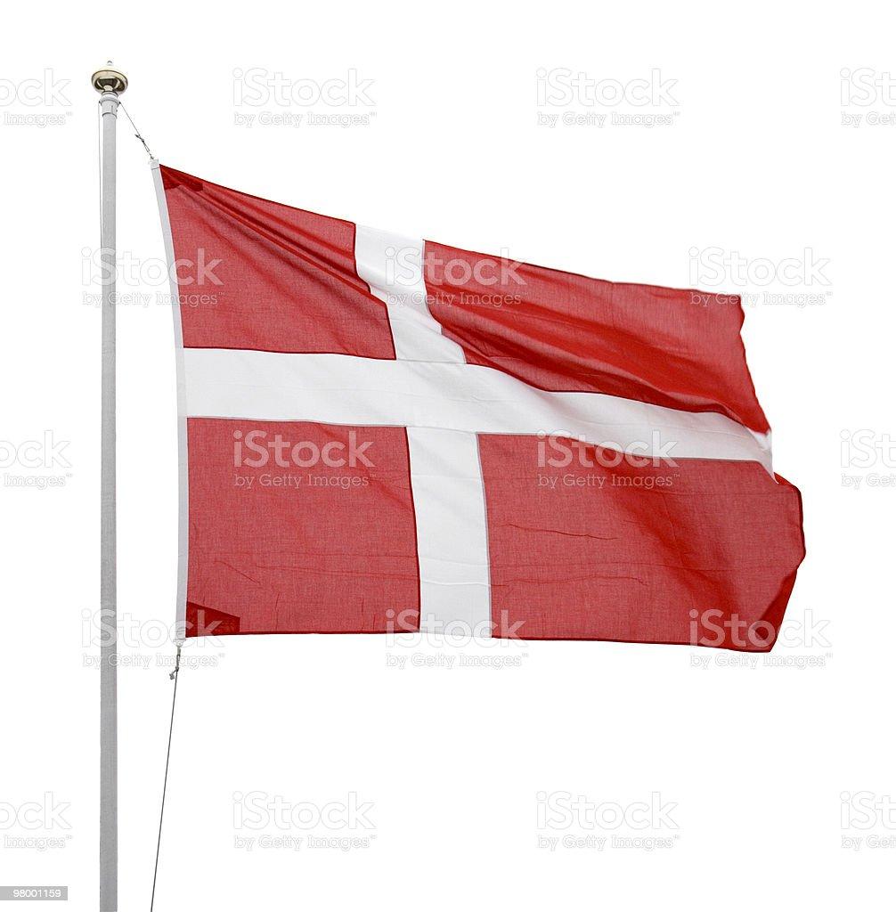 Danish flag royalty free stockfoto