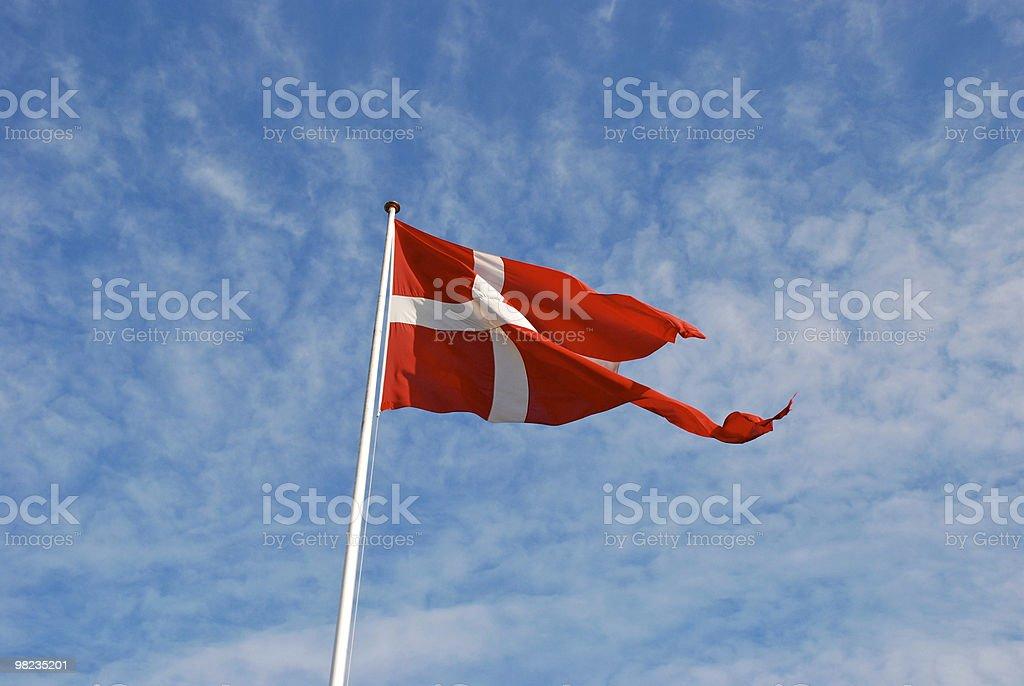 Bandiera della Danimarca foto stock royalty-free