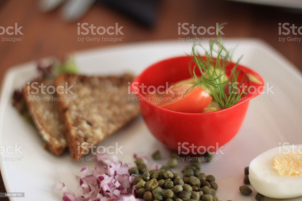 Danish food plate royalty-free stock photo