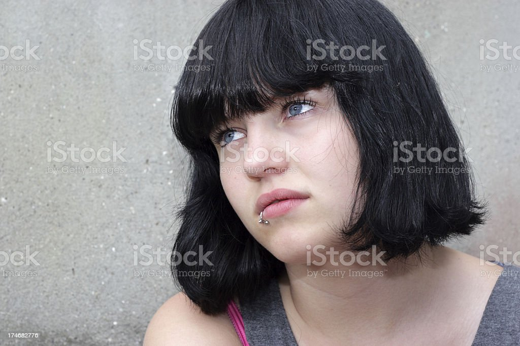 Danish Girl With Black Colored Hair Stock Photo More Pictures Of