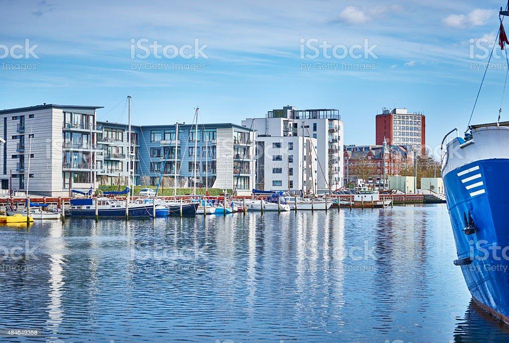 Danish Harbor stock photo