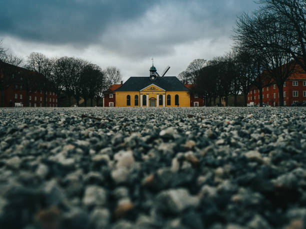 Danish Kastellet Yellow Military Building stock photo