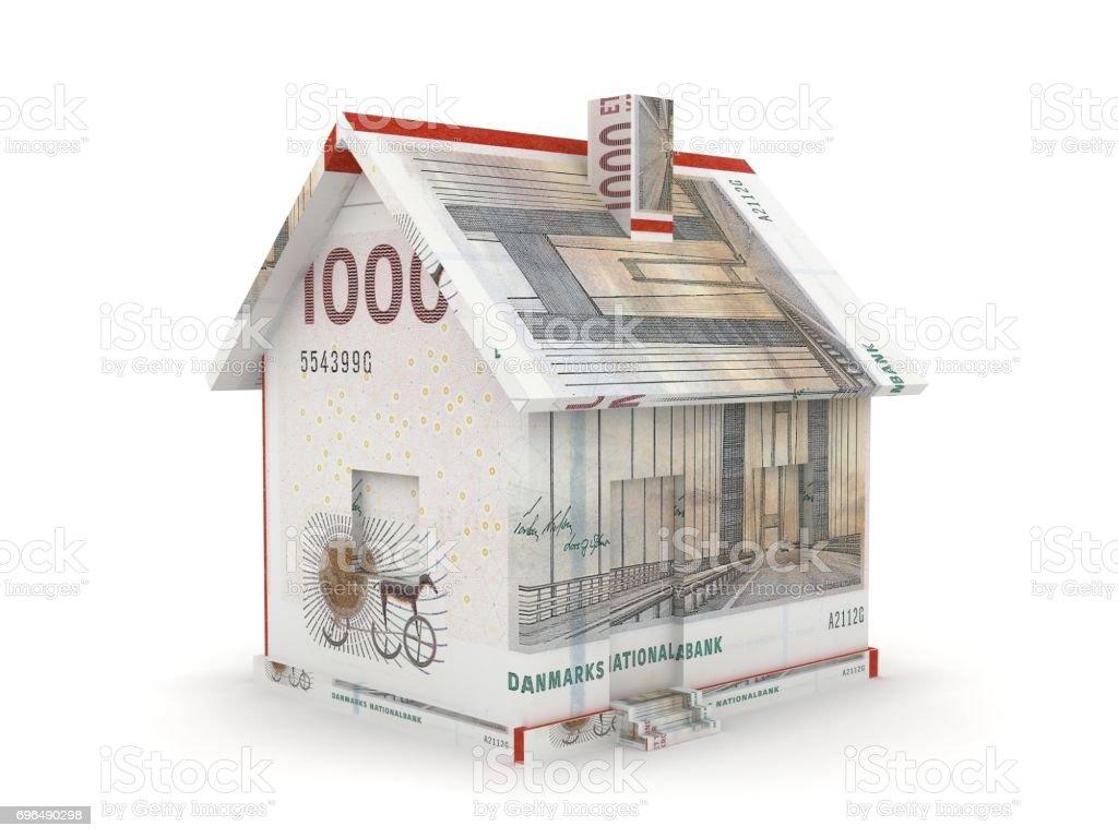 Danish krone house price real estate concept stock photo