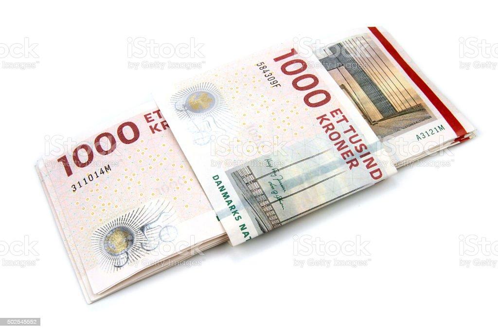 Danish krone ( 10x1000 DKK ) stock photo
