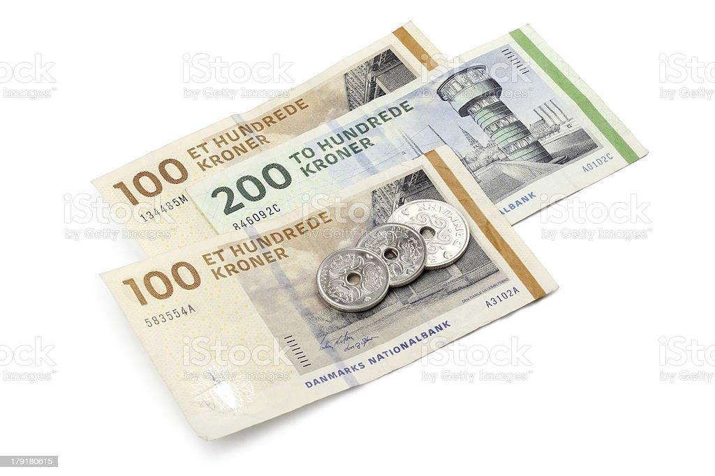 Danish money stock photo