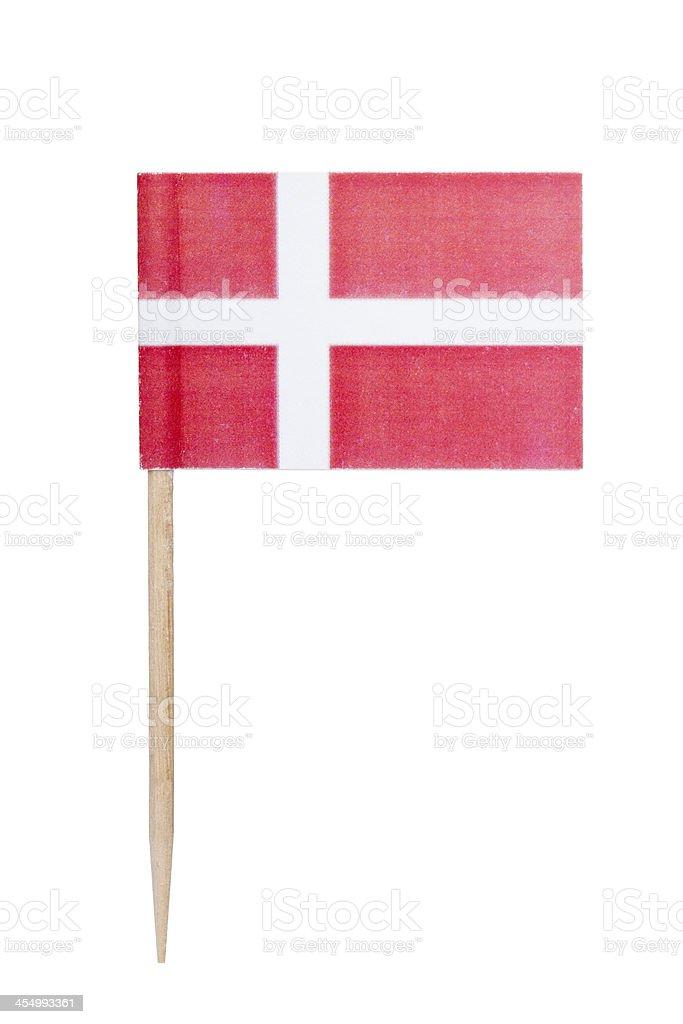 Papel bandera danesa - foto de stock