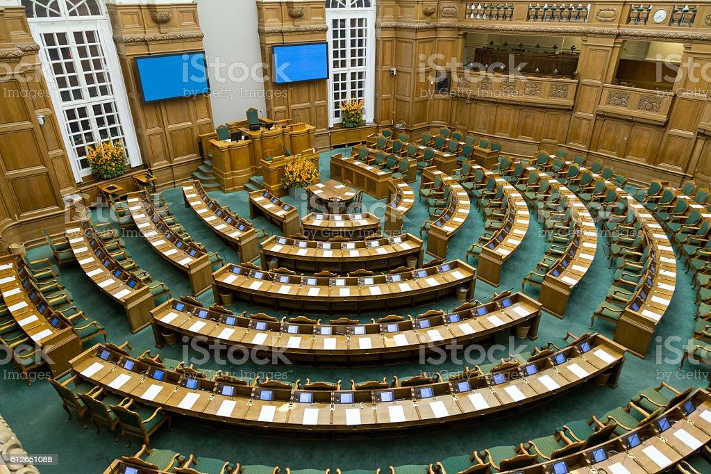 Danish parliament in Copenhagen stock photo