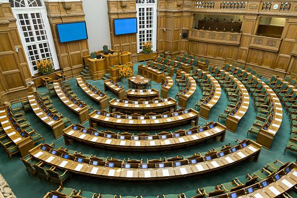 Danish parliament in Copenhagen - foto de stock