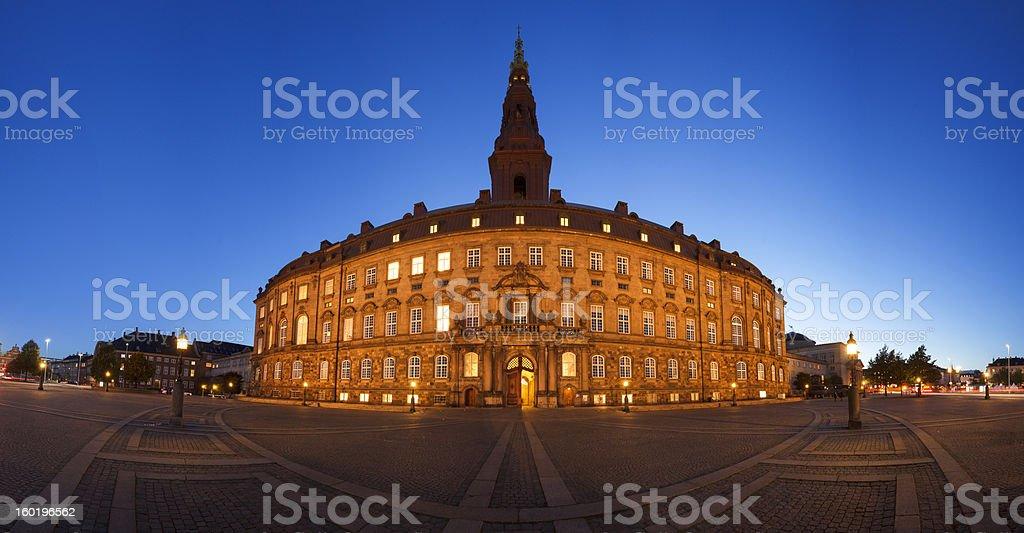 Danish parliament panorama royalty-free stock photo
