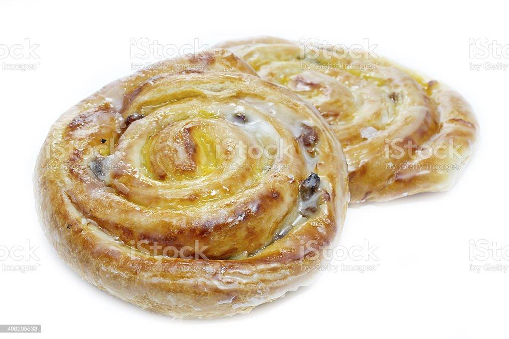 Danish pastries on white stock photo