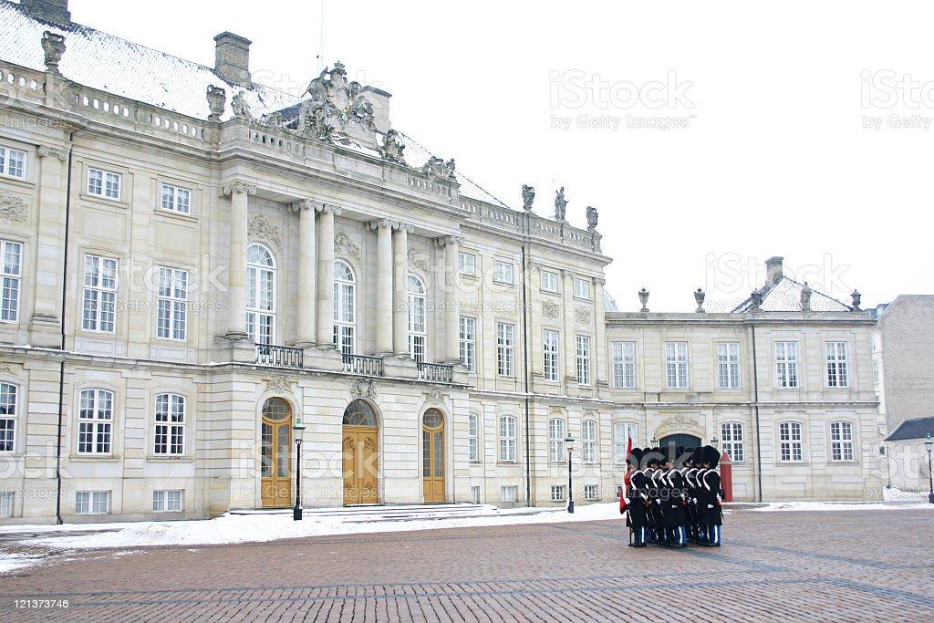 Danish Royal Guard royalty-free stock photo
