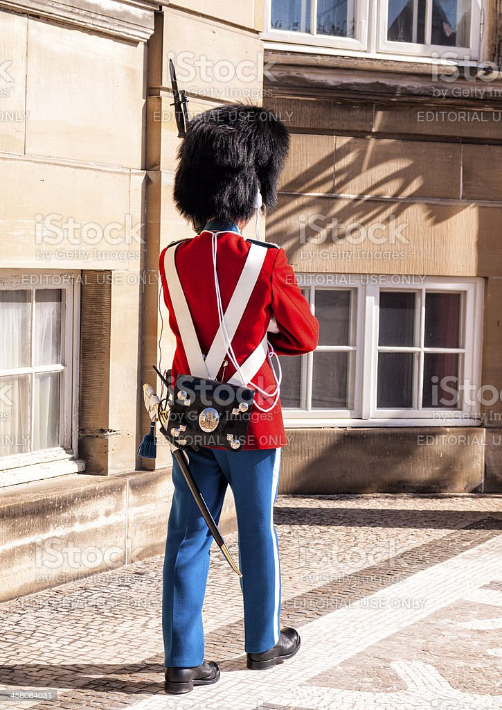 Danish Royal lifeguard royalty-free stock photo