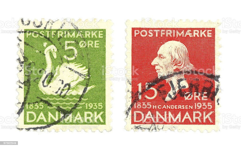 Danish stamps royalty-free stock photo
