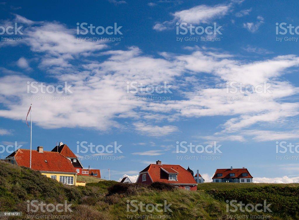 Danish village royalty-free stock photo