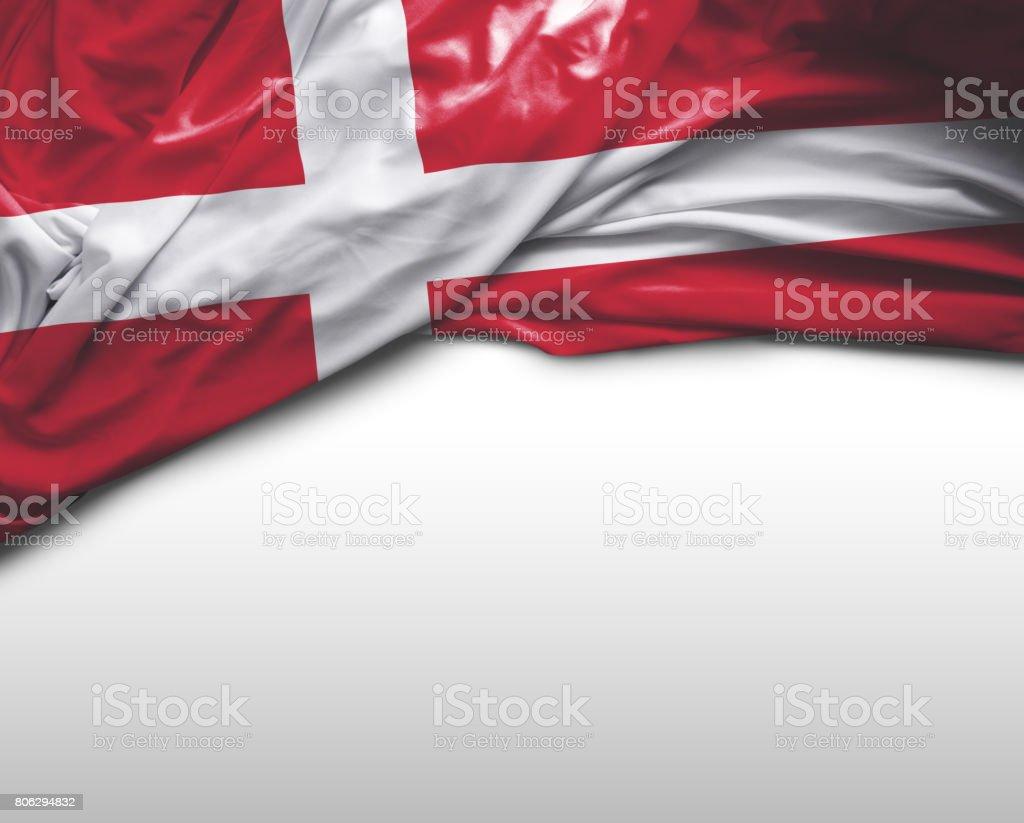 Bandera que agita danesa - foto de stock