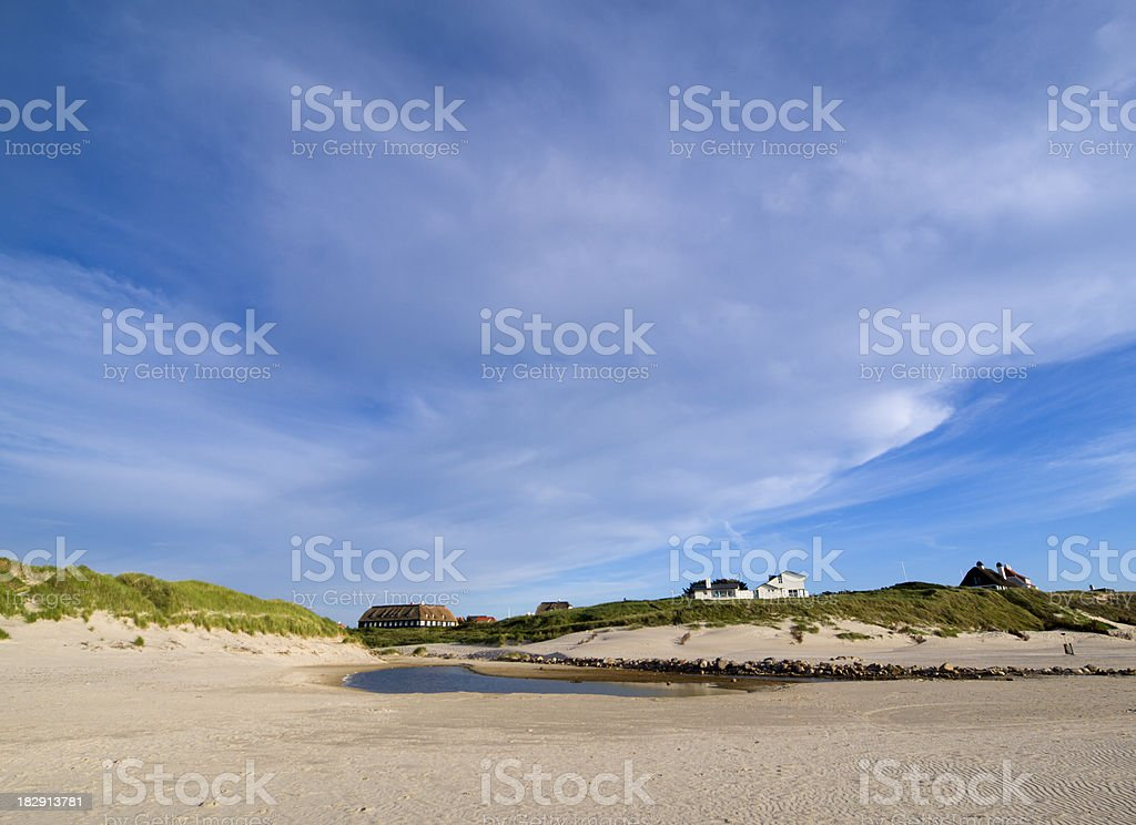 Danish west coast royalty-free stock photo