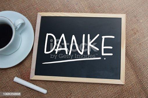 1068057246 istock photo Danke, Motivational Words Quotes Concept 1068056868