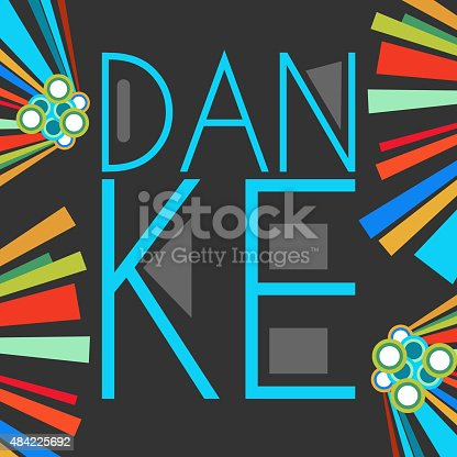 istock Danke Text Dark Colorful Elements 484225692