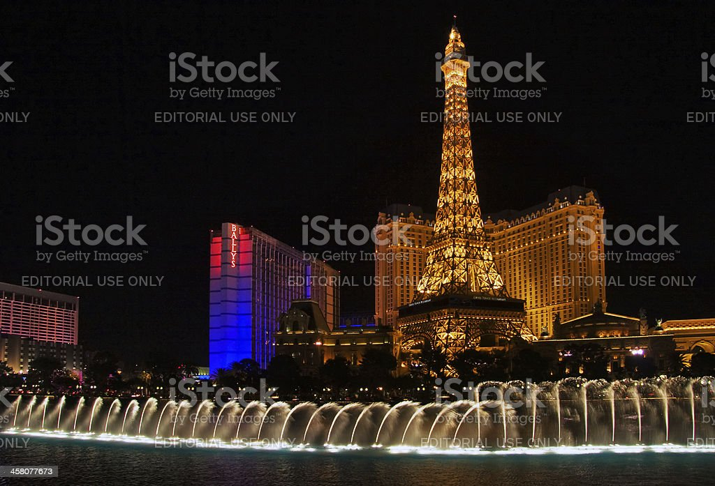 Dansing fountains royalty-free stock photo