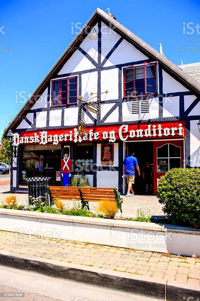 Dansk Bageri kafe og Conditori in Solvang CA stock photo