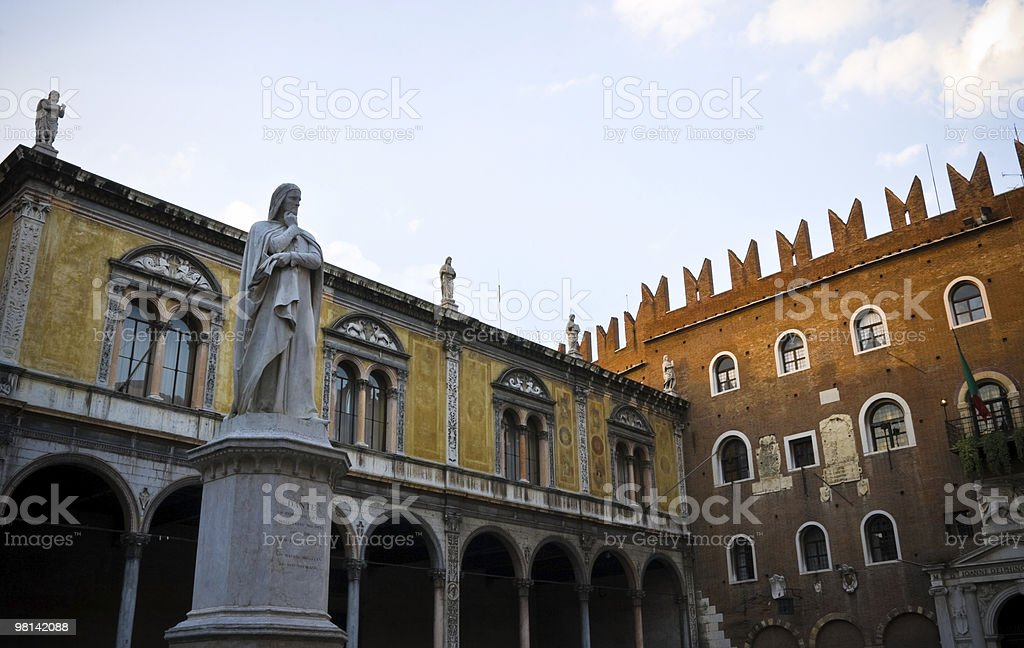 Dante Alighieri in Verona royalty-free stock photo