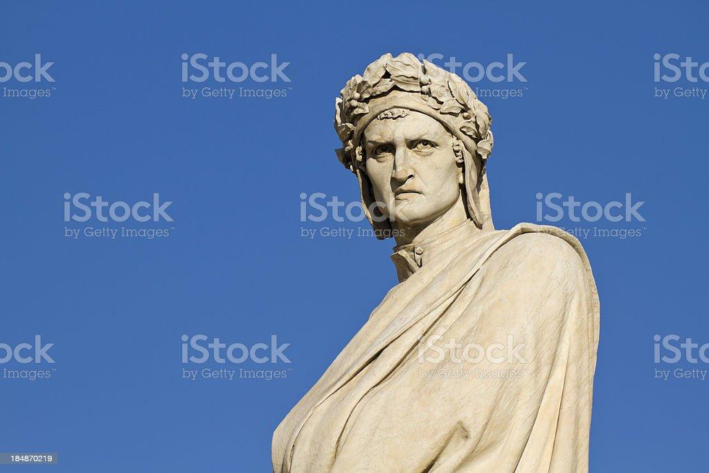 Dante Alighieri portrait, Florence , Italy stock photo