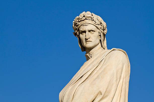 dante alighieri ritratto, firenze, italia - dante alighieri foto e immagini stock
