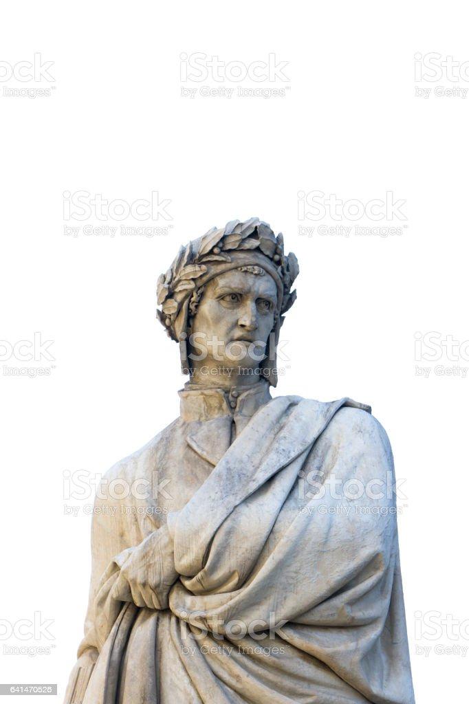 Dante Allighieri monument stock photo
