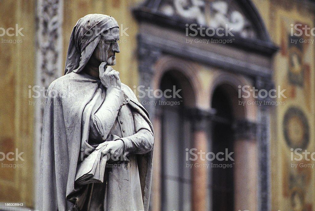Dante statue stock photo