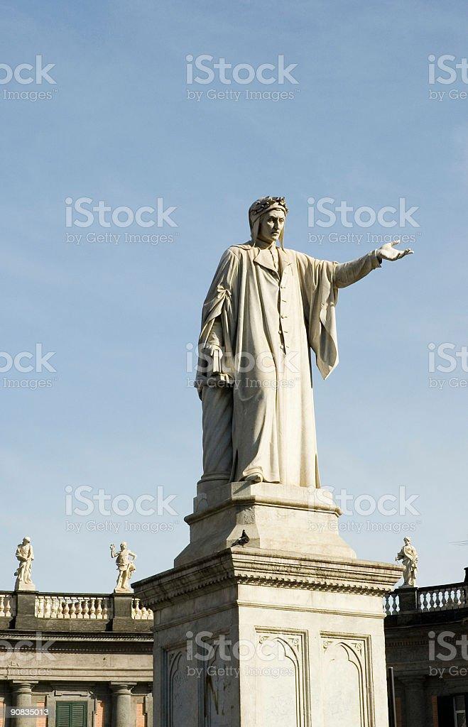 Dante Statue royalty-free stock photo