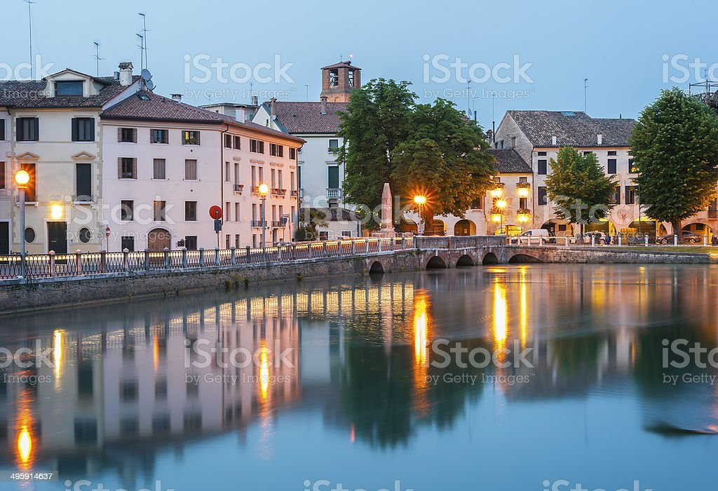 ponte dante treviso stock photo