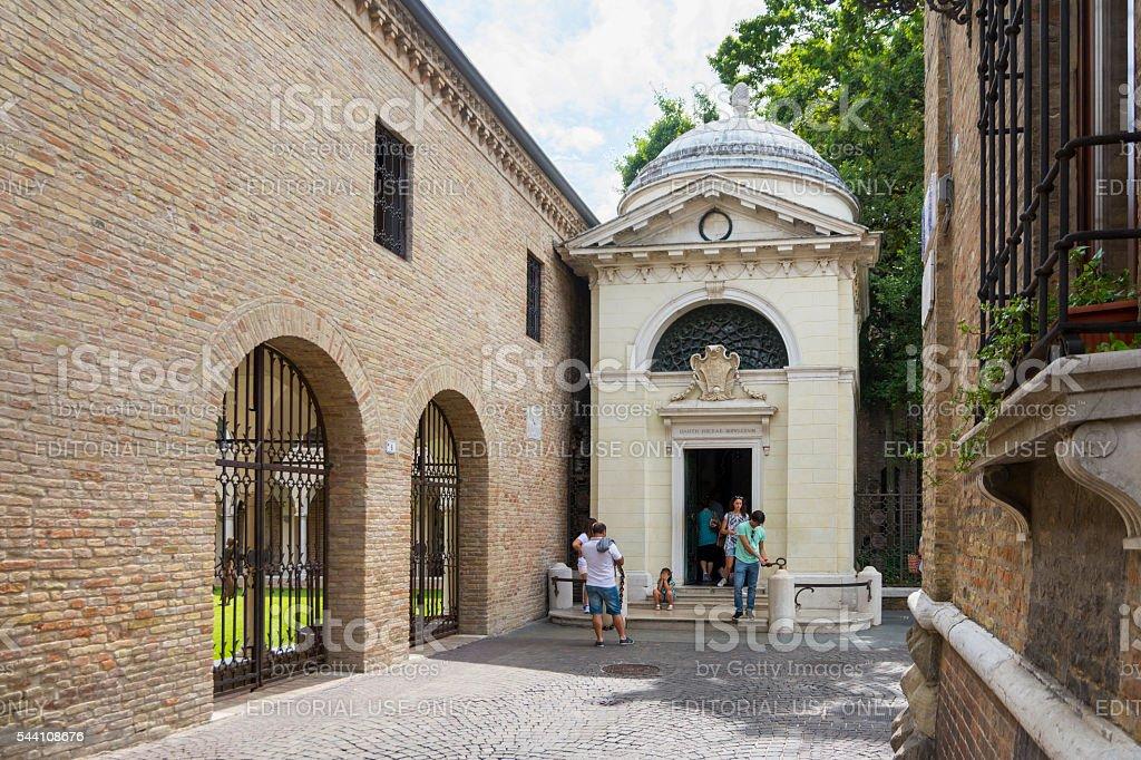 Dante's tomb in Ravenna stock photo