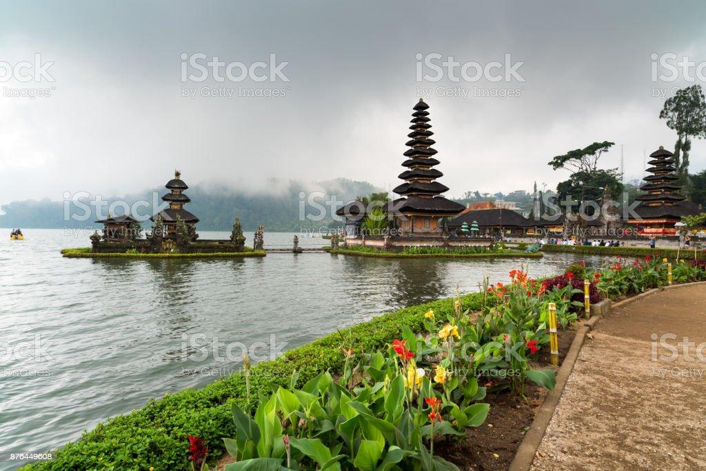 Danu Beratan Temple stock photo