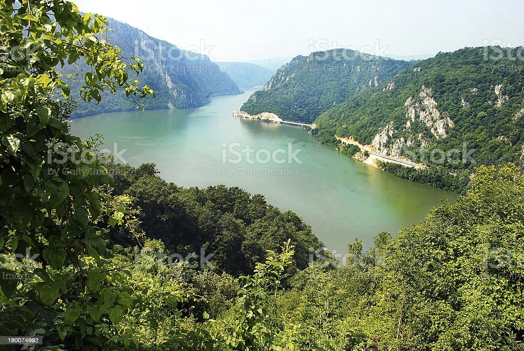 Danube canyon royalty-free stock photo