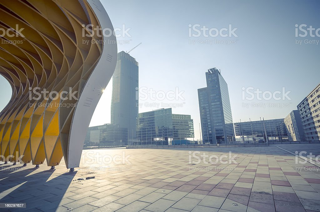 danube city stock photo