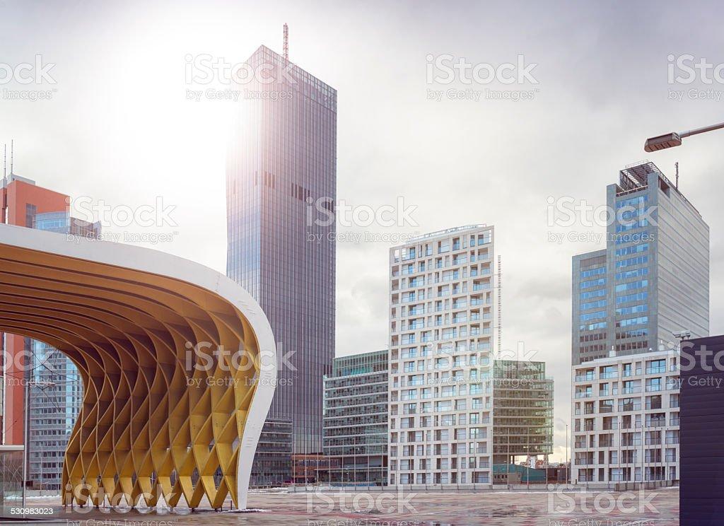 danube city stock photo