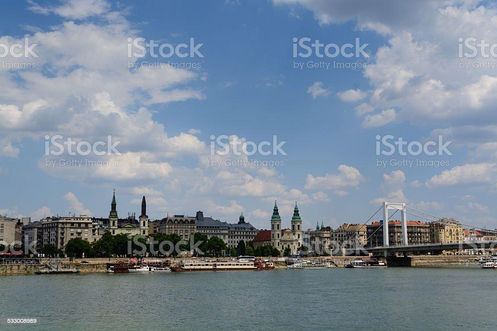 Danúbio crossing Budapeste foto royalty-free