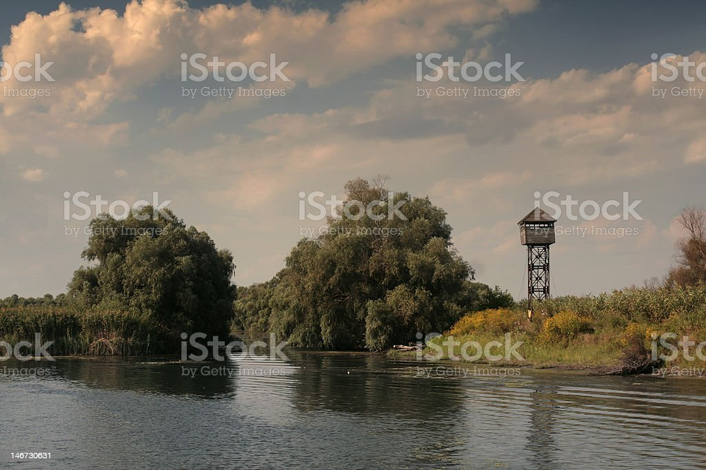 Danube Delta landscape royalty-free stock photo